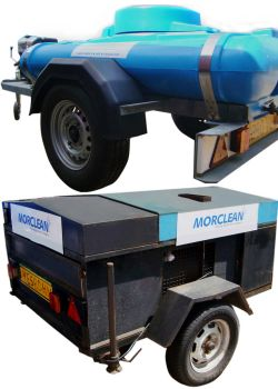 Hire high pressure cleaners complete with water tanks