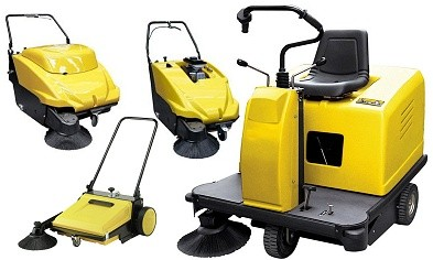 Range of floor sweepers available for hire
