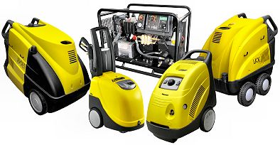 Range of high pressure washers for hire