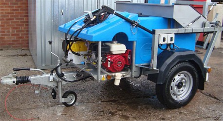 Wheelie bin washing machines for hire from Morclean HIRE